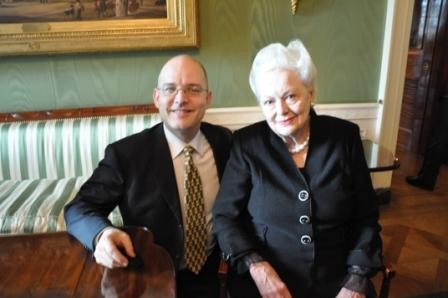 : JP with screen legend Olivia de Havilland
